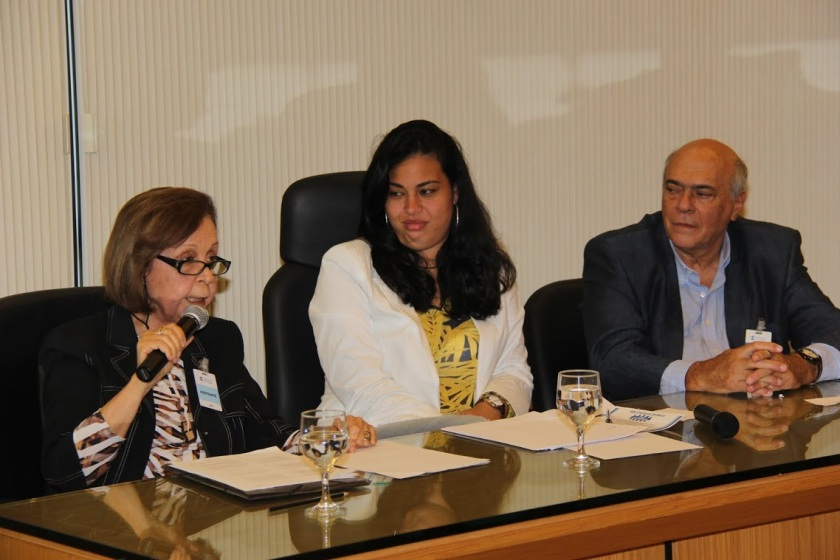 Profª. Sonia Nogueira, Profª. Marilia Nogueira e Prof. Rivo Gianini